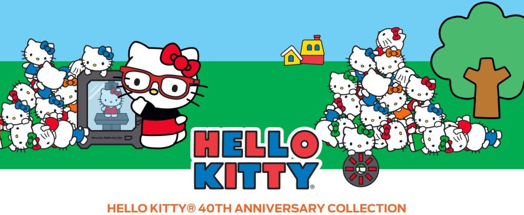 Hello Kitty 3d printing 40th anniversary collection Makerbot & Sanrio